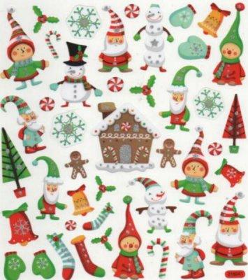 Decoration De Noel Lutin Autocollant