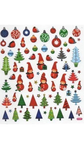 Stickers lutins et sapins de Noël