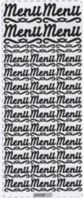 Stickers Menu couleur argent 230 mm x 100 mm