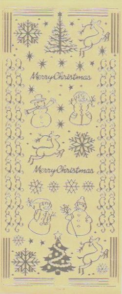 Stickers Merry Christmas 230 mm x 100 mm