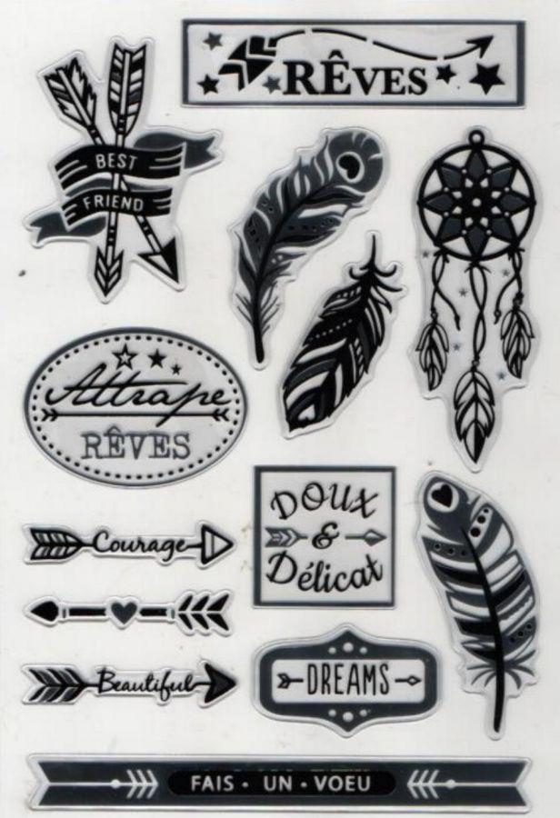 Stickers métallisées 13 pièces