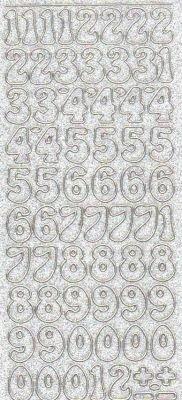Stickers Nombre couleur transparent 230 mm x 100 mm