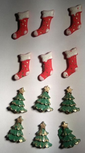 Stickers Noël résine lot de 12 pièces