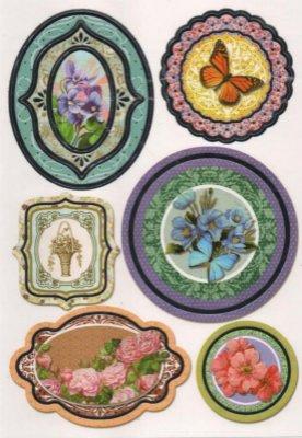 Stickers papillon et fleurs