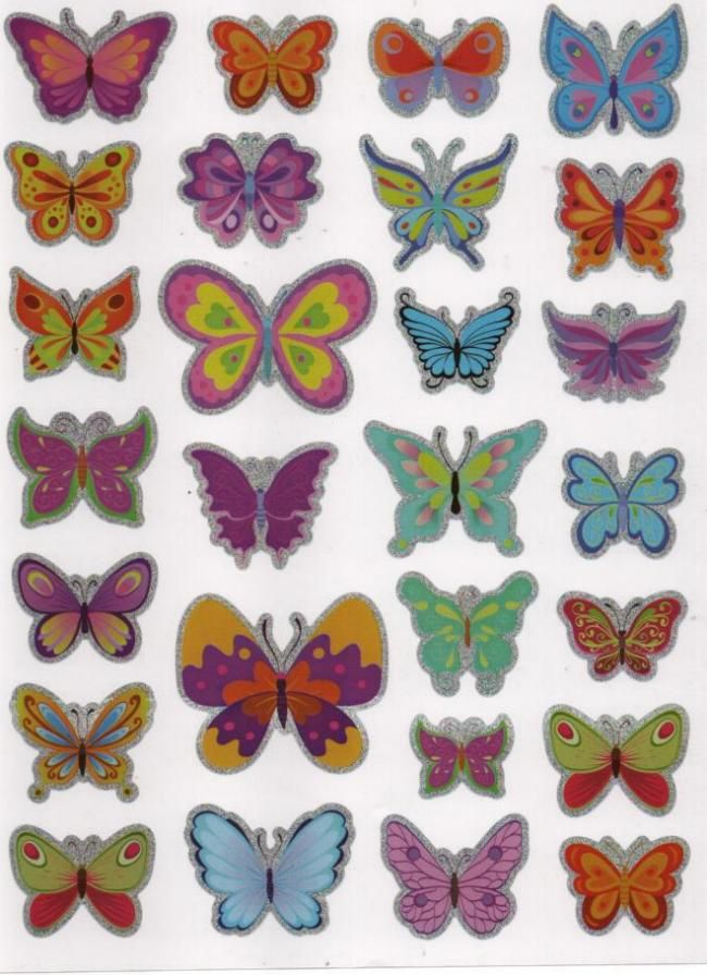 Stickers papillons 27 pièces autocollants