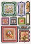 Stickers roses et papillon