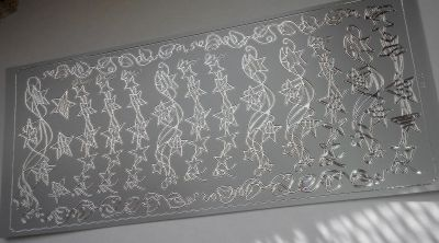 Stickers étoiles couleur argent 230 mm x 100 mm