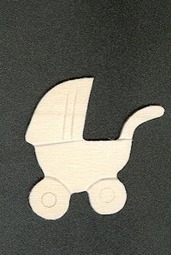 Support bois landau bébé en bois à peindre 50 mm x 35mm