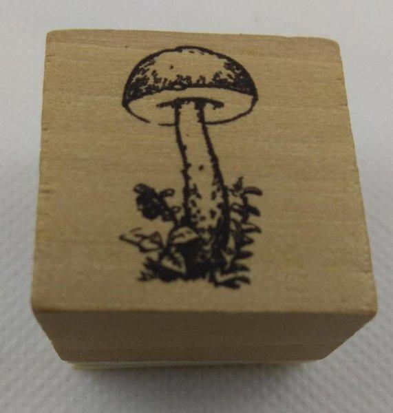Tampon bois champingnon pour carte 3D