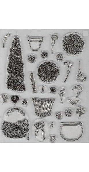 Tampons fleurs transparent