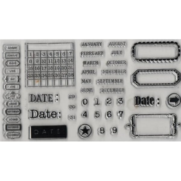 Tampons transparent calendrier