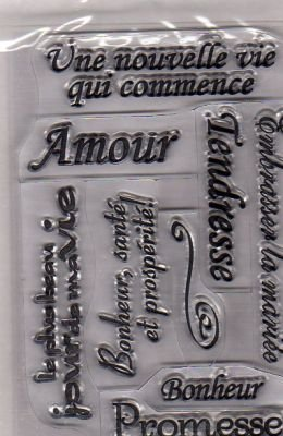 Tampons transparents mariage amour