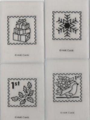 Tampons transparents Noël et cadeau