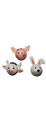Têtes animaux vache/cochon/lapin autocollant sachet12 pieces