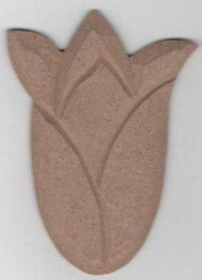 Tulipe MDF à peindre 90 mm