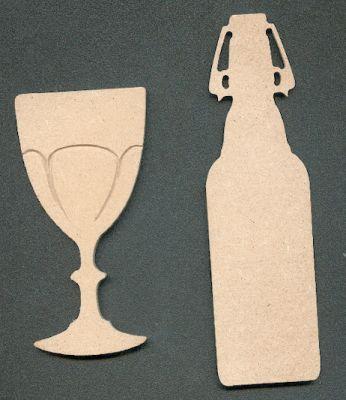 Verre+ bouteille MDF 140 mm x 50 mm