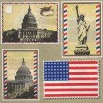 Serviette papier Le Capitole Etats-Unis 33 cm X 33 cm 2 plis