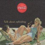 Serviette papier Coca Cola et plage