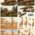 Feuilles à découper 3D Girafes