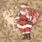 Serviette papier Père Noël et jouets 33 cm X 33 cm 3 plis