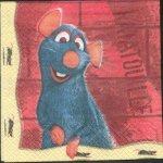 Serviette papier Ratatouille de 33 cm X 33 cm 2 plis
