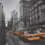 Serviette papier taxi New York  33 cm X 33 cm 3 plis