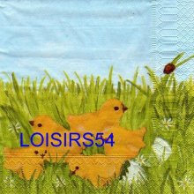 Serviette papier 5 poussins