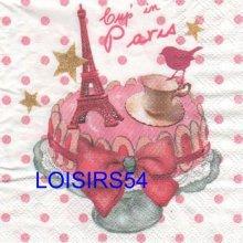 Serviette papier Cup in Paris et Londres