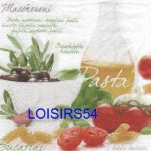 Serviette papier pasta Bucatini