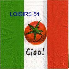 Serviette papier Italie et tomate