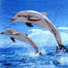 Serviette papier 2 dauphins 33cm X 33 cm 3 plis