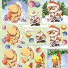 Feuilles à découper motif Noël N° 3