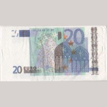 Serviette Money 20 Euro 8 cm X 16 cm 3 plis