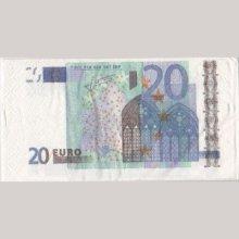 Serviette Money 20 Euro 8 cm X 16 cm 3 plis