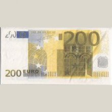 Serviette Money 200 Euro 8 cm X 16 cm 3 plis