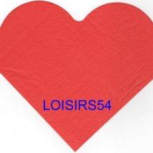 Serviette papier forme coeur tout rouge