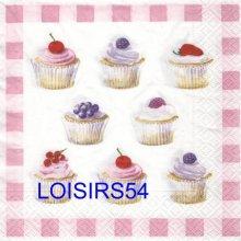 Serviette papier cupcakes aux fruits