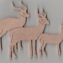 Antilopes MDF 100 mm 3 pieces
