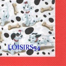 Serviette papier 101 Dalmatiens 33 cm x 33 cm pour la décoration