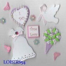 Stickers mariage autocollant mousse pour décoration