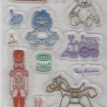 Tampon transparent Jouets 30 mm pour décoration