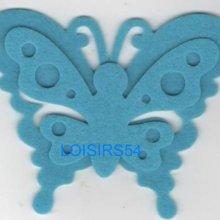 Papillon feutrine bleu 100 mm x 60 mm
