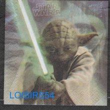Serviette papier Yoda 33 cm x 33 cm pour décoration