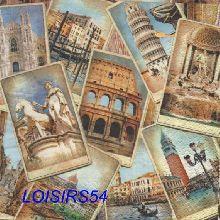 Serviette papier Rome et Italie - 33 cm x 33 cm