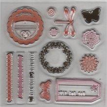 Tampon transparent love pour décoration 13 pièces