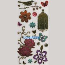 Stickers autocollant papillon et cage