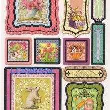 Stickers autocollant lapin et fleurs