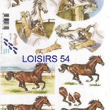 Feuille 3D  chevaux de course