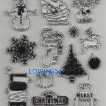 Tampon transparent Noël et cadeaux pour décoration 13 pièces