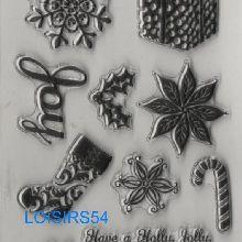 Tampon transparent Noël et cadeau pour décoration 10 pièces